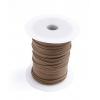 Cotton Wax Cord 3mm Flat Copper